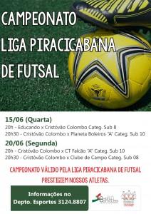 cartaz site Campeonato liga piracicabana de futsal